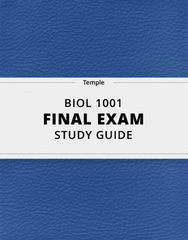 [BIOL 1001] - Final Exam Guide - Comprehensive Notes for the exam (23 pages long!)