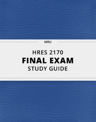 [HRES 2170] - Final Exam Guide - Comprehensive Notes for the exam (27 pages long!)
