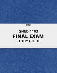 [GNED 1103] - Final Exam Guide - Comprehensive Notes for the exam (30 pages long!)