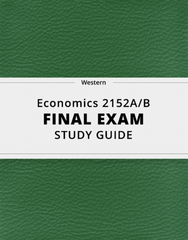 [Economics 2152A/B] - Final Exam Guide - Everything you need to know! (22 pages long)