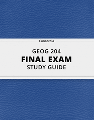 GEOG 204 Study Guide - Comprehensive Final Guide: Geothermal Power, Anthropocene, Agronomy