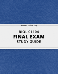[BIOL 01104] - Final Exam Guide - Everything you need to know! (44 pages long)