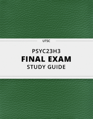 [PSYC23H3] - Final Exam Guide - Everything you need to know! (67 pages long)