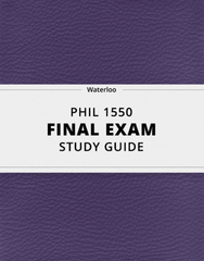 [PHIL 1550] - Final Exam Guide - Everything you need to know! (42 pages long)