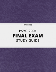 [PSYC 2001] - Final Exam Guide - Ultimate 80 pages long Study Guide!