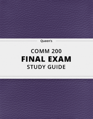 [COMM 200] - Final Exam Guide - Ultimate 23 pages long Study Guide!