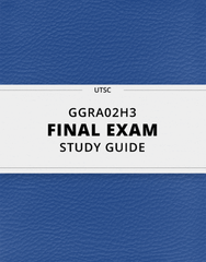 [GGRA02H3] - Final Exam Guide - Ultimate 26 pages long Study Guide!