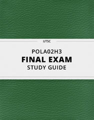 [POLA02H3] - Final Exam Guide - Everything you need to know! (87 pages long)