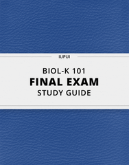[BIOL-K 101] - Final Exam Guide - Ultimate 73 pages long Study Guide!