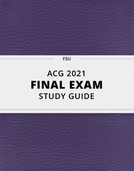[ACG 2021] - Final Exam Guide - Comprehensive Notes for the exam (48 pages long!)