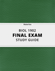 [BIOL 1902] - Final Exam Guide - Everything you need to know! (74 pages long)