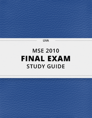 [MSE 2010] - Final Exam Guide - Comprehensive Notes for the exam (35 pages long!)