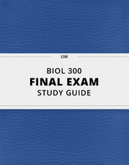 [BIOL 300] - Final Exam Guide - Comprehensive Notes for the exam (69 pages long!)