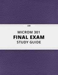 [MICROM 301] - Final Exam Guide - Everything you need to know! (35 pages long)