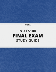 [NU FS100] - Final Exam Guide - Ultimate 118 pages long Study Guide!