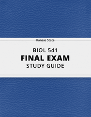 [BIOL 541] - Final Exam Guide - Comprehensive Notes for the exam (46 pages long!)