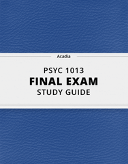 [PSYC 1013] - Final Exam Guide - Ultimate 51 pages long Study Guide!