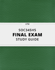 [SOC345H5] - Final Exam Guide - Comprehensive Notes for the exam (41 pages long!)