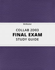 [COLLAB 2D03] - Final Exam Guide - Comprehensive Notes for the exam (54 pages long!)
