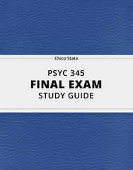 [PSYC 345] - Final Exam Guide - Ultimate 41 pages long Study Guide!