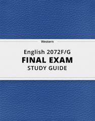 [English 2072F/G] - Final Exam Guide - Everything you need to know! (51 pages long)