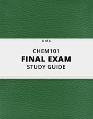 [CHEM101] - Final Exam Guide - Comprehensive Notes for the exam (31 pages long!)