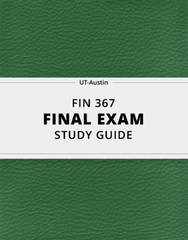 [FIN 367] - Final Exam Guide - Comprehensive Notes for the exam (34 pages long!)