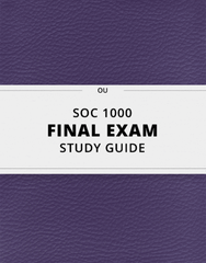 [SOC 1000] - Final Exam Guide - Everything you need to know! (41 pages long)
