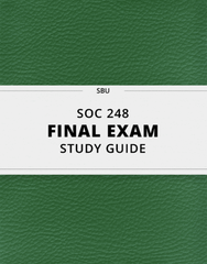 [SOC 248] - Final Exam Guide - Comprehensive Notes for the exam (24 pages long!)