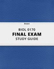 [BIOL 0170] - Final Exam Guide - Comprehensive Notes for the exam (94 pages long!)