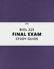 [BIOL 225] - Final Exam Guide - Everything you need to know! (52 pages long)
