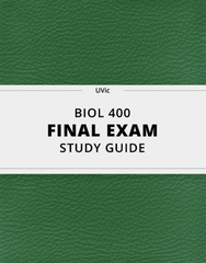 [BIOL 400] - Final Exam Guide - Everything you need to know! (50 pages long)