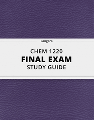 [CHEM 1220] - Final Exam Guide - Ultimate 48 pages long Study Guide!