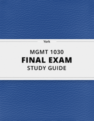 [MGMT 1030] - Final Exam Guide - Everything you need to know! (33 pages long)