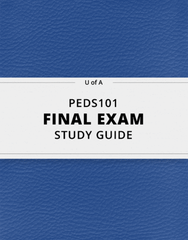 [PEDS101] - Final Exam Guide - Ultimate 29 pages long Study Guide!