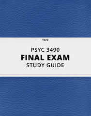 [PSYC 3490] - Final Exam Guide - Comprehensive Notes for the exam (39 pages long!)