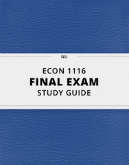[ECON 1116] - Final Exam Guide - Comprehensive Notes for the exam (80 pages long!)