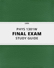 [PHYS 1301W] - Final Exam Guide - Comprehensive Notes for the exam (89 pages long!)