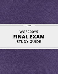 [WGS200Y5] - Final Exam Guide - Comprehensive Notes for the exam (45 pages long!)