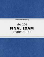 [sbc 200] - Final Exam Guide - Comprehensive Notes for the exam (31 pages long!)