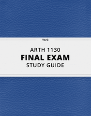 [ARTH 1130] - Final Exam Guide - Everything you need to know! (118 pages long)