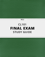 [CL101] - Final Exam Guide - Comprehensive Notes for the exam (30 pages long!)
