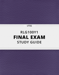 [RLG100Y1] - Final Exam Guide - Everything you need to know! (43 pages long)