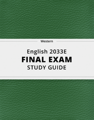 [English 2033E] - Final Exam Guide - Everything you need to know! (49 pages long)