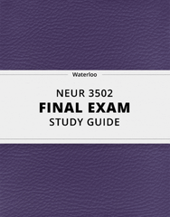 [NEUR 3502] - Final Exam Guide - Ultimate 26 pages long Study Guide!