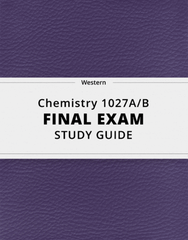 [Chemistry 1027A/B] - Final Exam Guide - Comprehensive Notes for the exam (23 pages long!)
