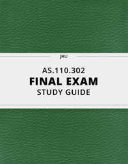 [AS.110.302] - Final Exam Guide - Comprehensive Notes for the exam (77 pages long!)