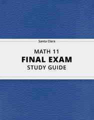 [MATH 11] - Final Exam Guide - Ultimate 31 pages long Study Guide!