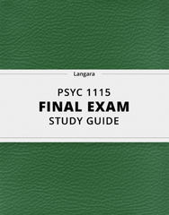 [PSYC 1115] - Final Exam Guide - Ultimate 30 pages long Study Guide!