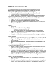 NUTR 3210 Lecture Notes - Lecture 22: Glutathione Peroxidase, Hydroperoxyl, Tocopherol